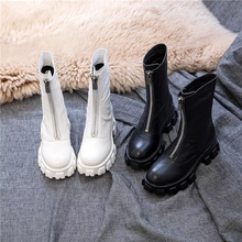 Load image into Gallery viewer, Front Zipper Platform Boots