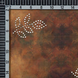 Light Brown Paisely Pattern Digital Foil Satin Fabric