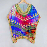 Georgette Glorious And Colorful Kaftan Form