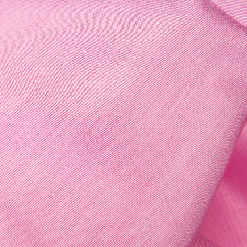 Pastel Pink Plain Pure Chanderi Fabric - Fabcurate