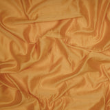 Ochre Yellow Plain Pure Chanderi Fabric - Fabcurate