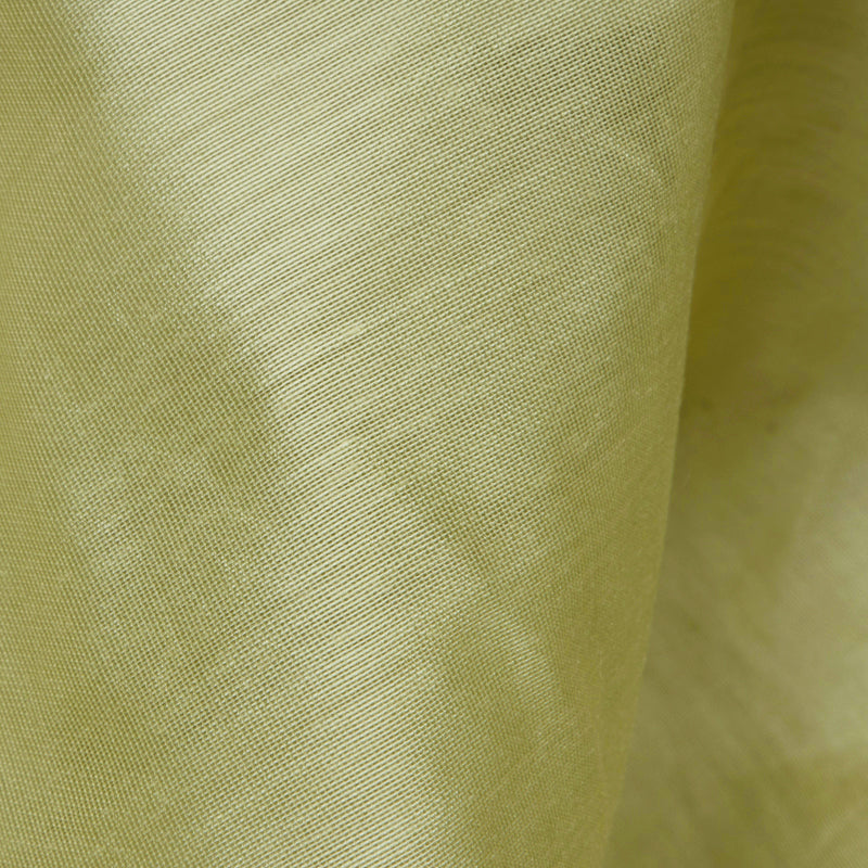 Olive Green Plain Pure Chanderi Fabric