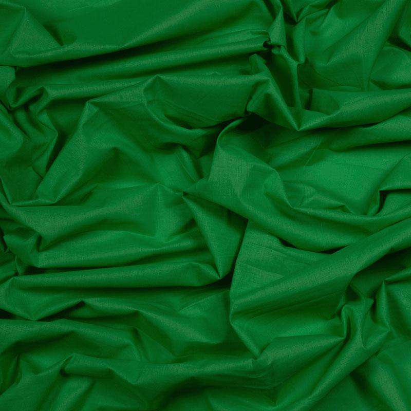 Parrot Green Plain Cotton Cambric Fabric