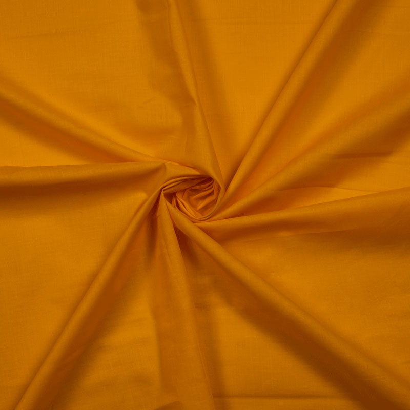 Fire Yellow Plain Cotton Cambric Fabric