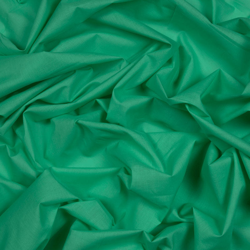 Emerald Plain Cotton Cambric Fabric