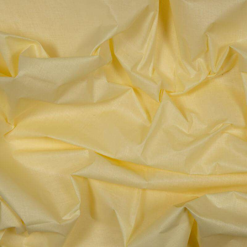 Cream Plain Cotton Cambric  Fabric