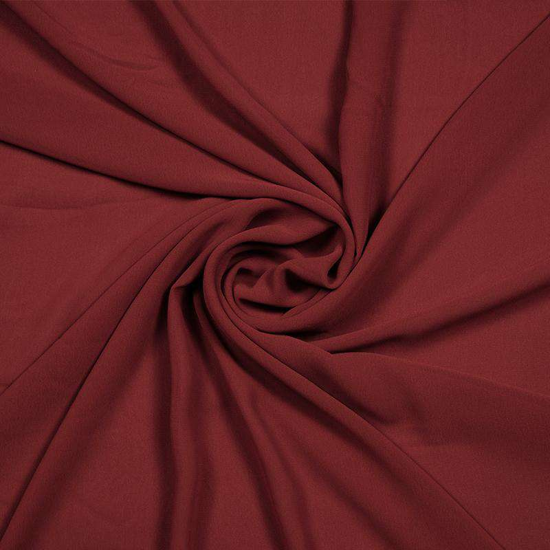 Dark Marron Plain Georgette Fabric