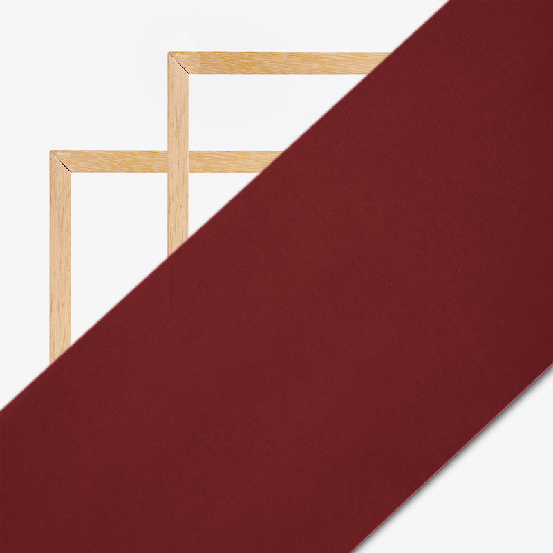 Dark Marron Plain Georgette Fabric - Fabcurate