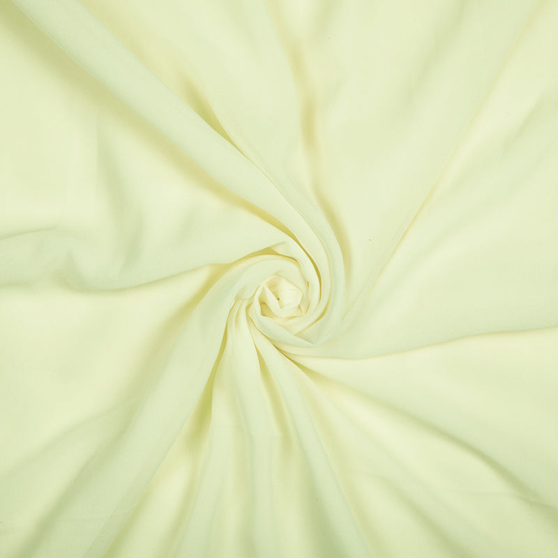 Cream Yellow Plain Georgette Fabric - Fabcurate