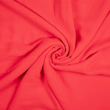 Desire Red Plain Georgette Fabric - Fabcurate