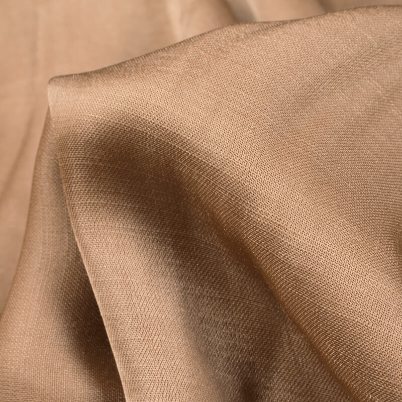 Sepia Beige Plain Modal Satin Fabric - Fabcurate