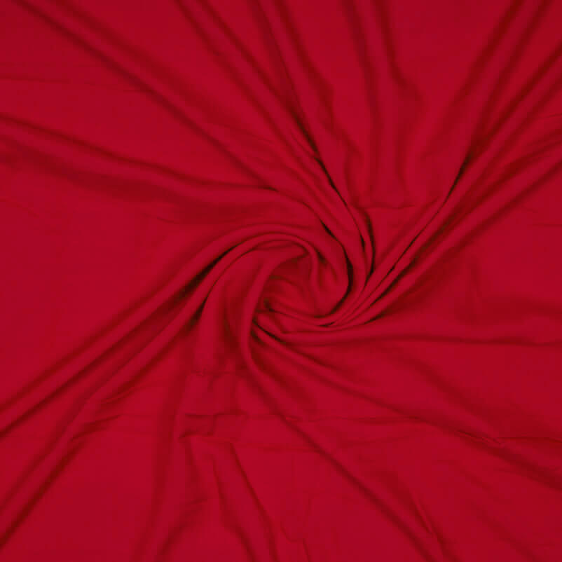 Red Plain Rayon Fabric