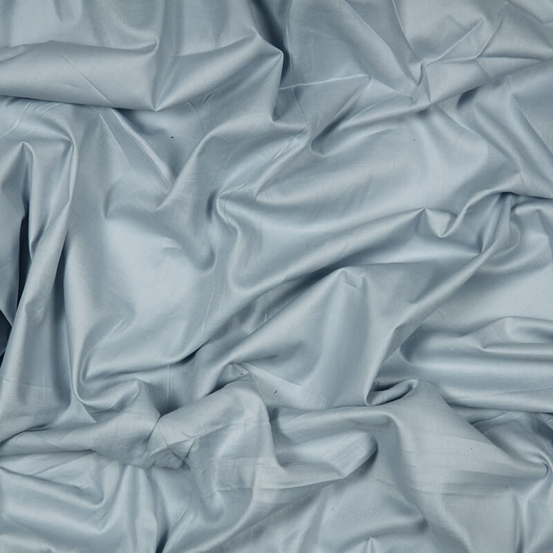 Light Grey Plain Glazed Cotton Fabric
