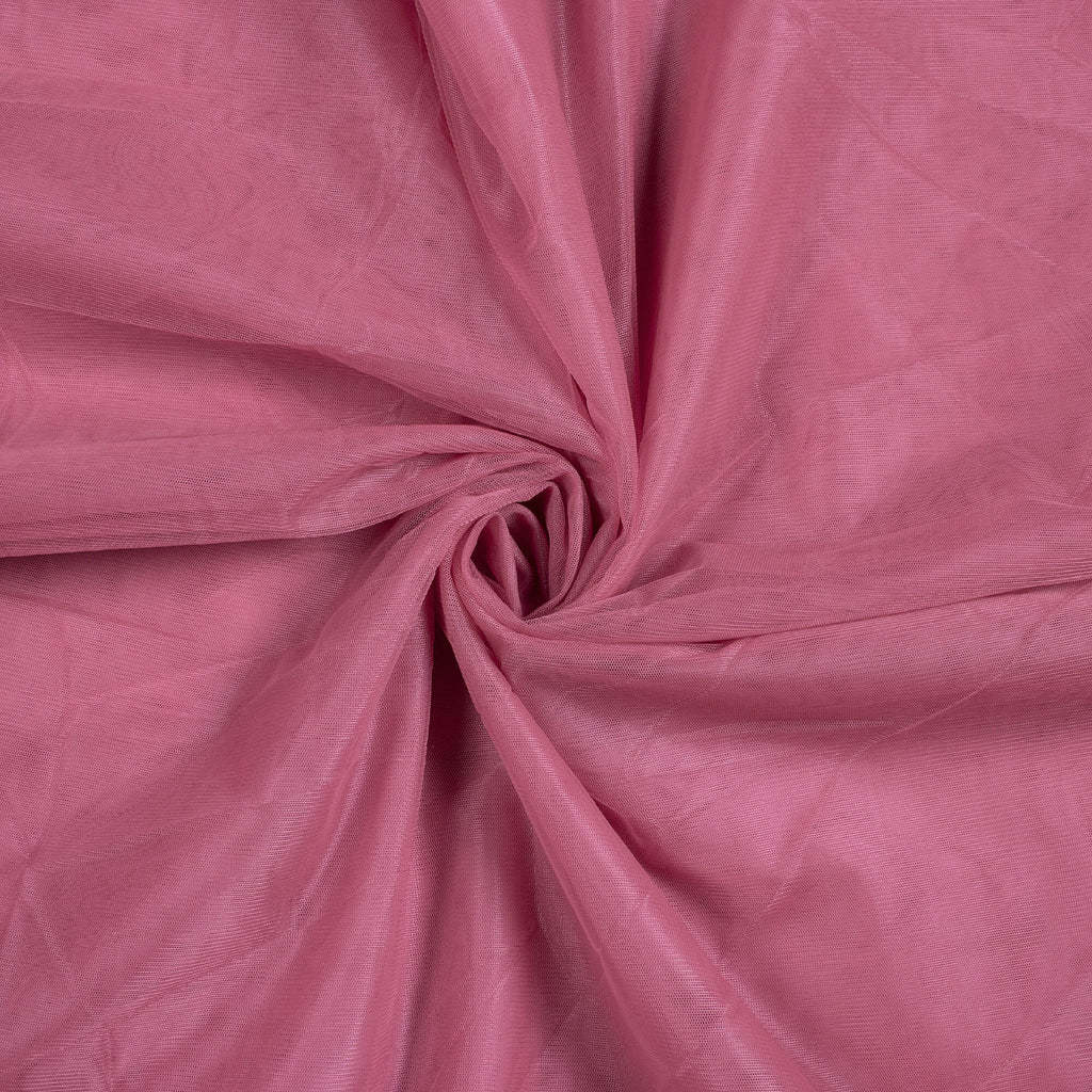 Thulian Pink Plain Premium Quality Butterfly Net Fabric - Fabcurate