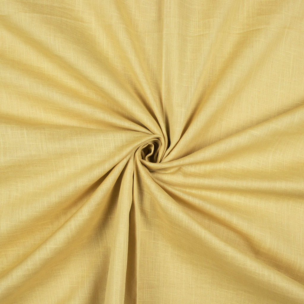 Beige Plain Cotton Slub Fabric