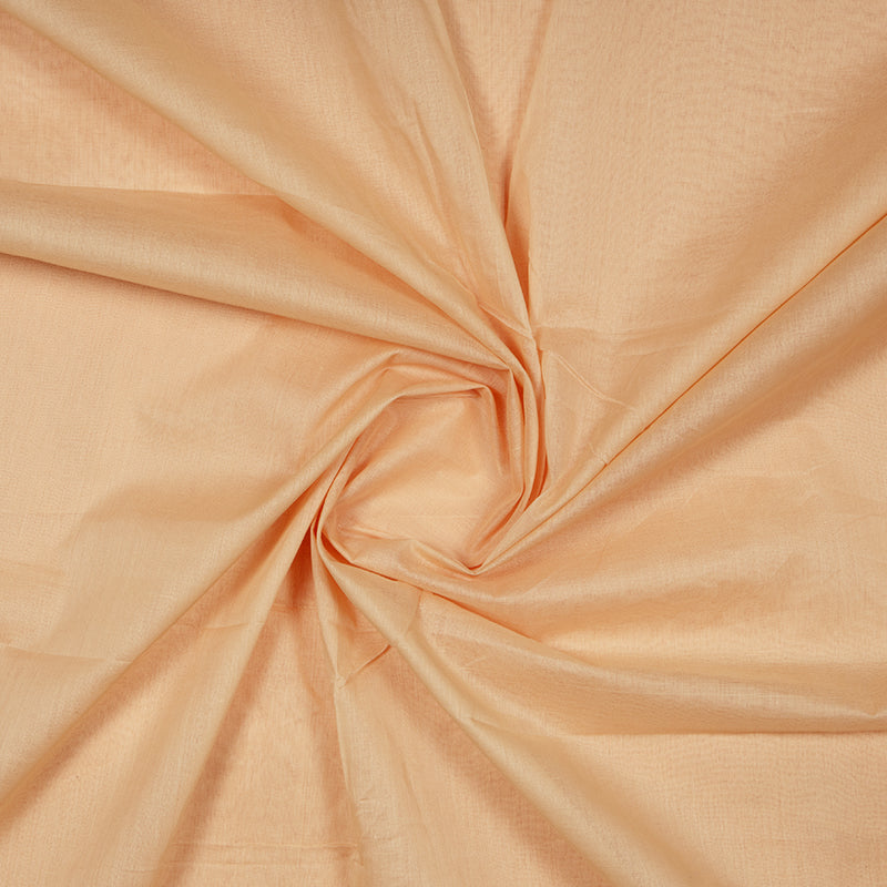 Peach Plain Mul Fabric For Lining