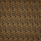 Brown Object Pattern Foil Printed Cotton Fabric