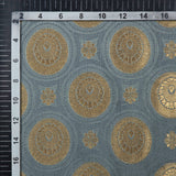 Light Grey Banarasi Geometric Pattern Zari Jacquard Taffeta Silk Fabric