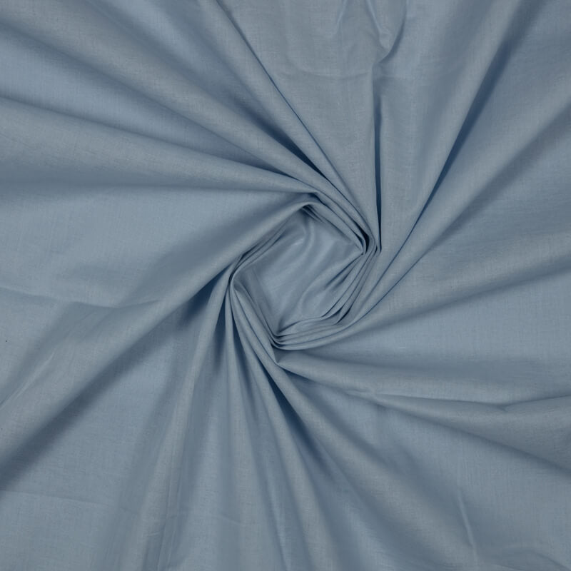 Pastel Blue Plain Cotton Fabric