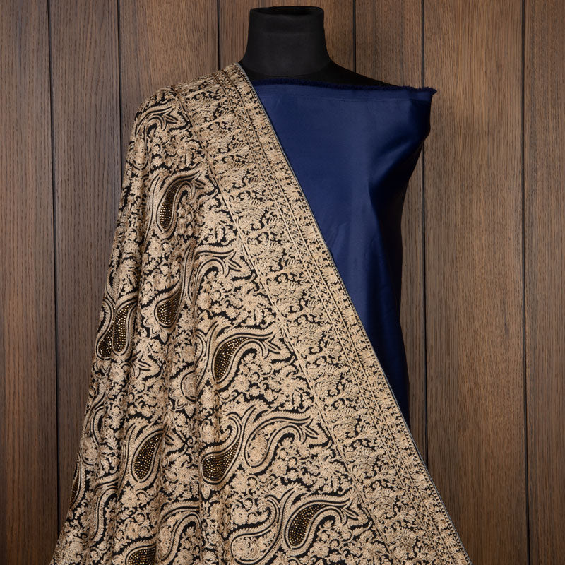 Black Ethnic Pattern Georgette Dupatta