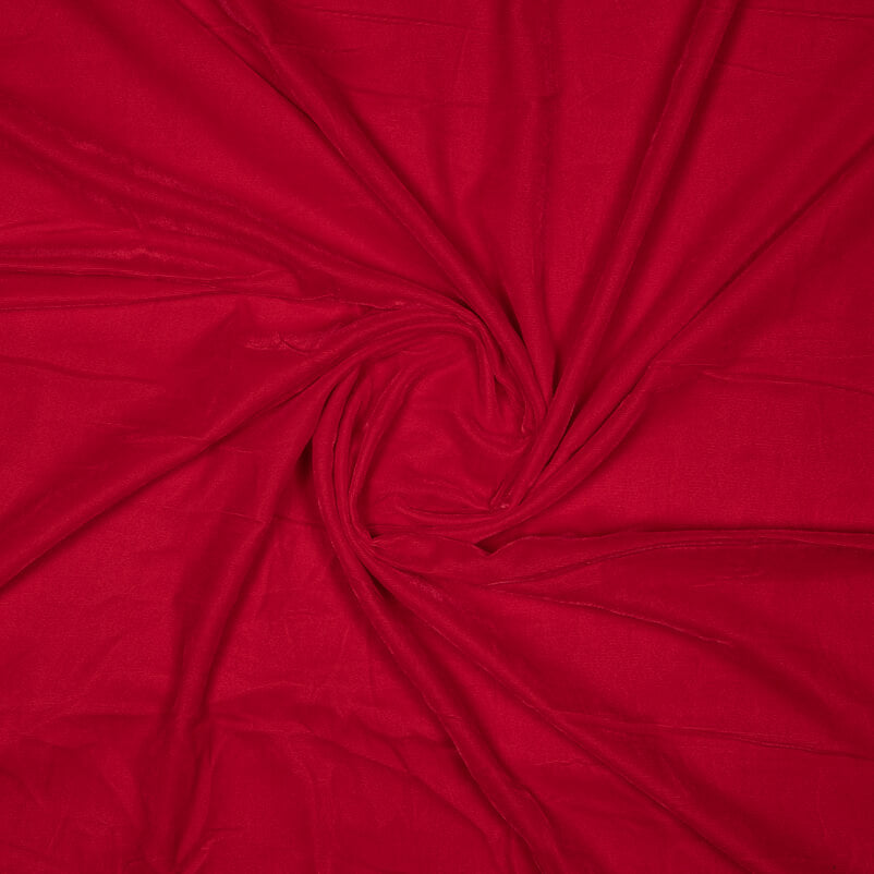 Indian Red Plain Imported Quality Micro Velvet Fabric