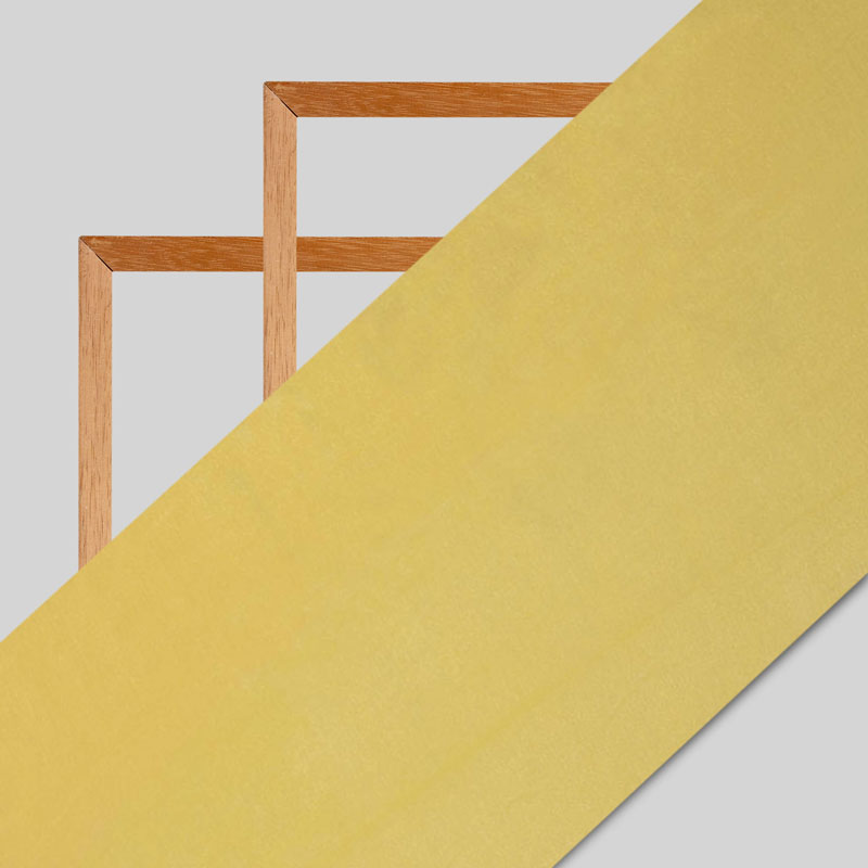 Yellow Plain Viscose Chinon Chiffon Fabric
