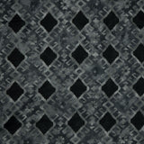 Dark Grey Geometrical Pattern Screen Print Viscose Rayon Fabric