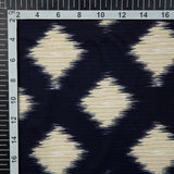 Purple Ikat Pattern Digital Print American Crepe Fabric