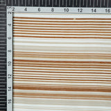 Light Brown Stripes Digital Print Chanderi Fabric