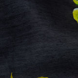 Black Floral Digital Print Chanderi Fabric - Fabcurate