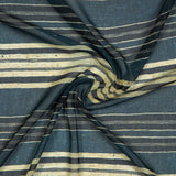 Dark Grey Stripes Digital Print Georgette Fabric