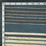 Dark Grey Stripes Digital Print Georgette Fabric - Fabcurate