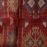 Maroon Ethnic Digital Print Muslin Fabric