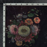 Multicolor Floral Digital Print Premium Organza Fabric - Fabcurate