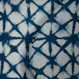Navy Blue Shibori Digital Print Rayon Fabric