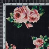 Pink Floral Digital Print Rayon Fabric