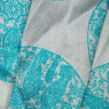 Pastel Blue Geometric Digital Print Japan Satin Fabric