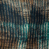Brown Stripes Digital Print Gerogette Satin Fabric