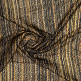 Beige Stripes Digital Print Georgette Satin Fabric