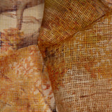 Light Brown Leaf Pattern Digital Print Kota Doria Fabric