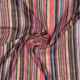 Pink Stripes Pattern Digital Print American Crepe Fabric