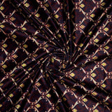 Cream And Red Trellis Pattern Digital Print Velvet Fabric (Width 54 inches) - Fabcurate