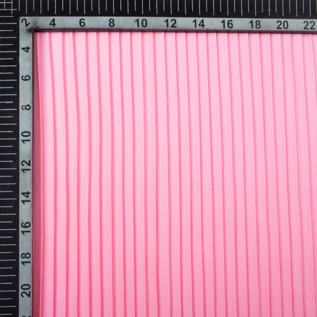 Pink Ombre Pattern Digital Print American Crepe Pleated Fabric (Width 54 Inches)