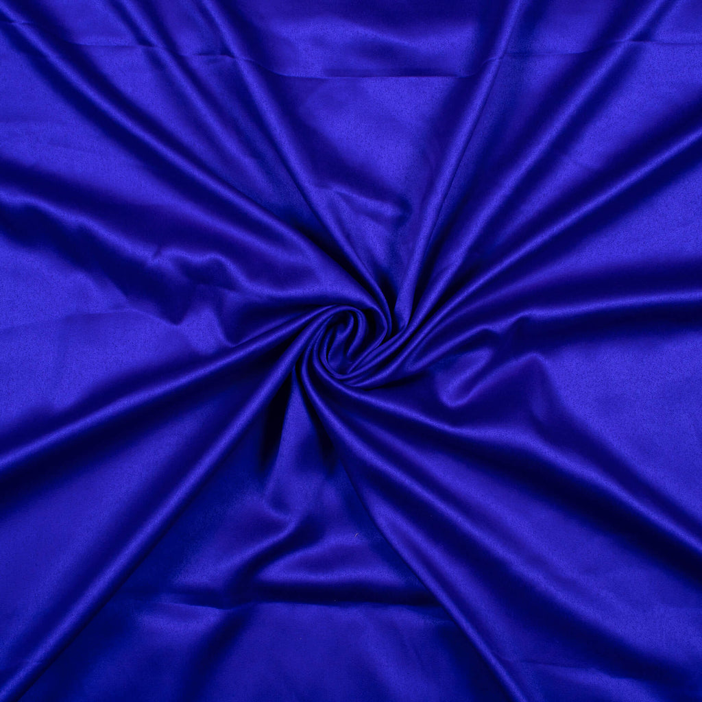 Royal Blue Plain Charmeuse Satin Fabric Width 21 Inches – Fabcurate