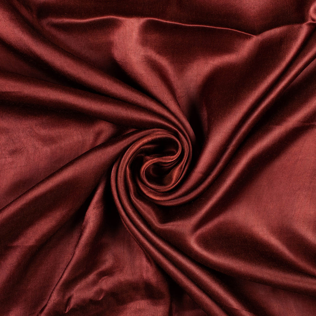 Syrup Brown Plain Viscose Gaji Silk Fabric