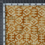 Brown Geometric Pattern Jacquard Chanderi Fabric