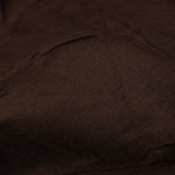 Chocolate Brown Plain Rayon Slub Fabric
