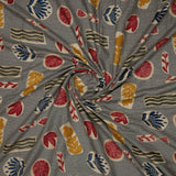 Multicolor Abstract Pattern Screen Print Viscose Rayon Fabric