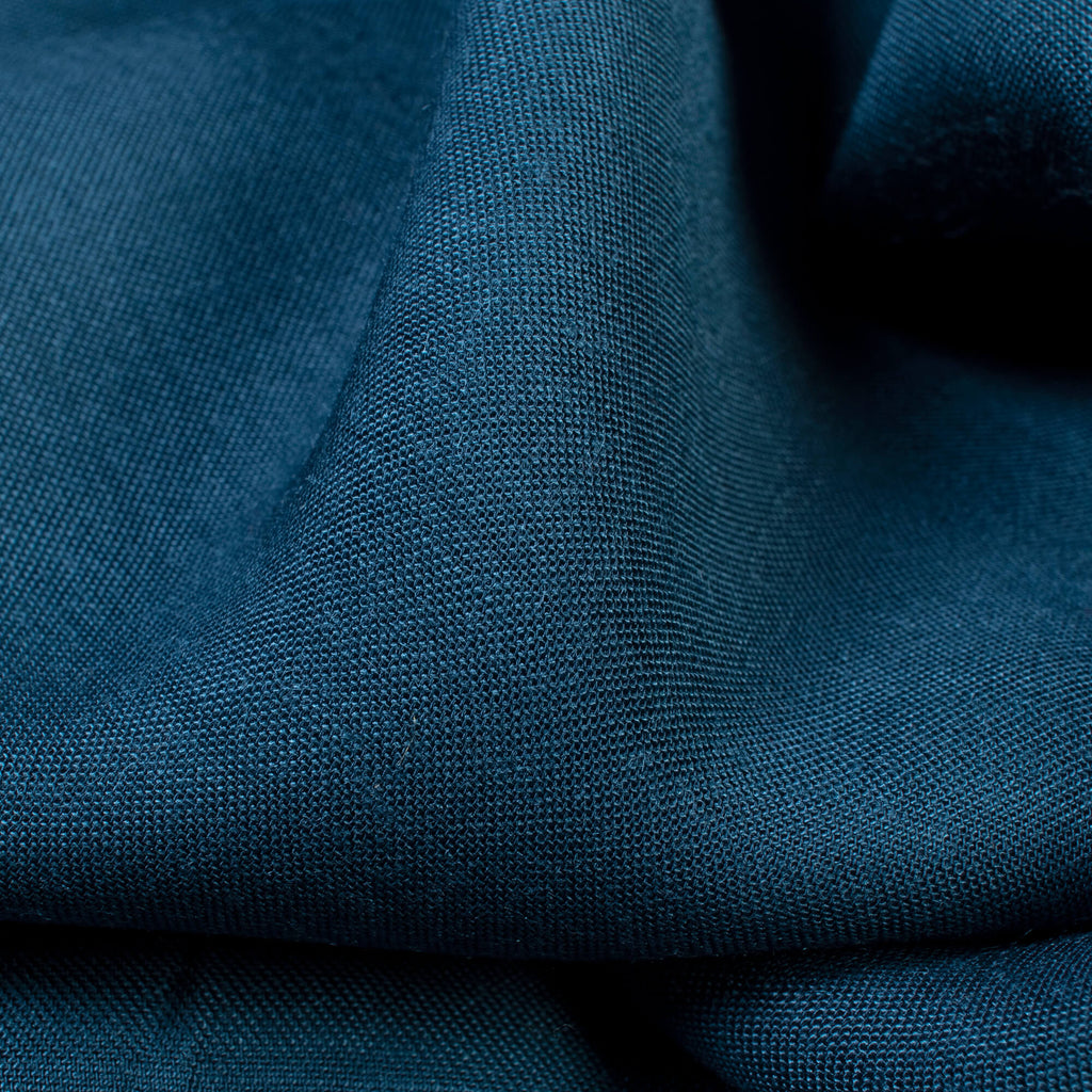 Teal Blue Plain Pure Muslin Fabric