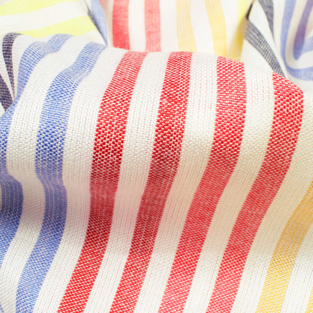 Red And Dark Grey Stripes Pattern Yarn Dyed Flex Cotton Fabric